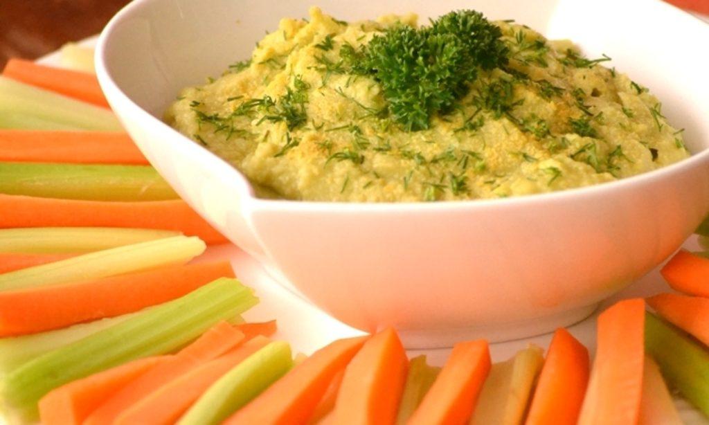 Hummus s avokádom