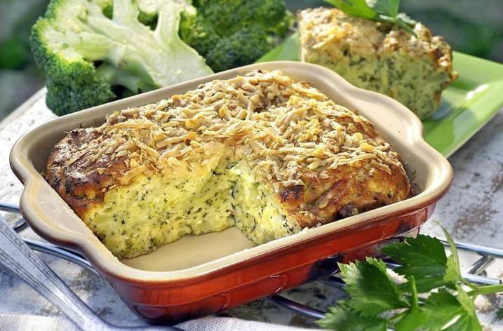 Brokolicový nákyp s parmezánom