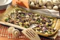 Šampiňónový koláč s baby špenátom