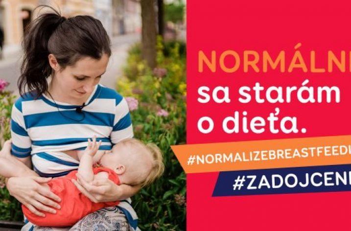 Dojčenie je právo dieťaťa, hovorí kampaň #zadojcenie