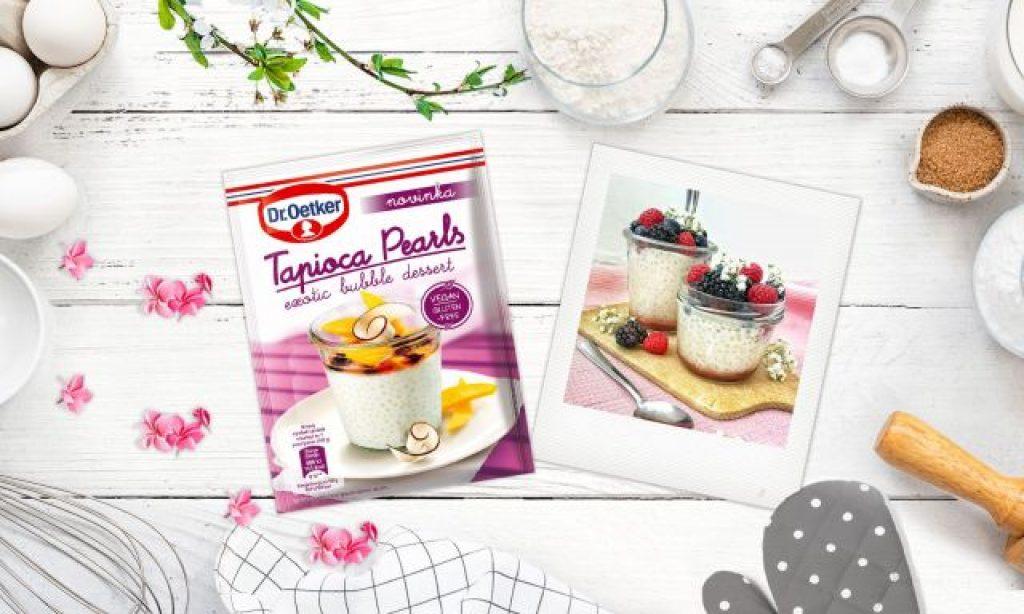 Tapioca Pearls: Exotický dezert z perál tapioky od Dr. Oetker
